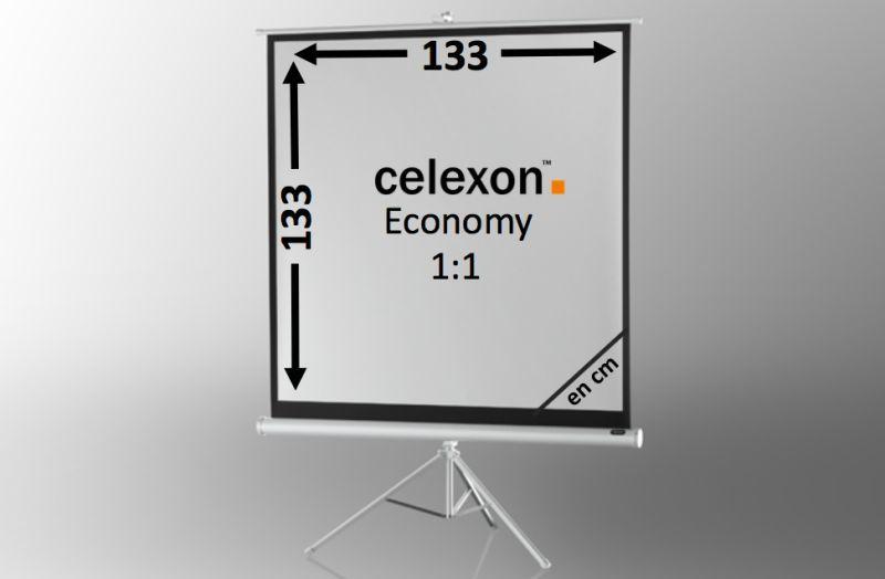 ecran de projection sur pied celexon economy 133 x 133 cm white edition achat vente celexon. Black Bedroom Furniture Sets. Home Design Ideas