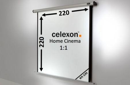 Ecran de projection celexon Motorisé Home Cinema 220 x 220 cm