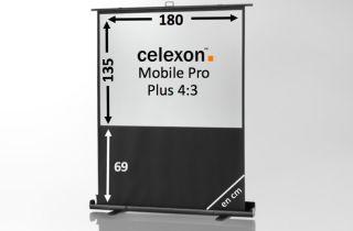 Ecran de projection celexon Mobile PRO PLUS 180 x 135
