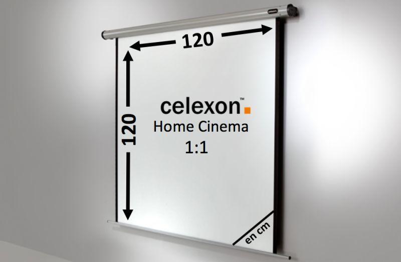 ecran de projection celexon motoris home cinema 120 x 120 cm achat vente celexon 1090107. Black Bedroom Furniture Sets. Home Design Ideas