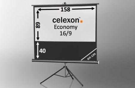 Ecran de projection sur pied celexon Economy 158 x 89 cm