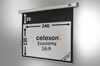 Ecran de projection celexon Economy Motorisé 240 x 135 cm