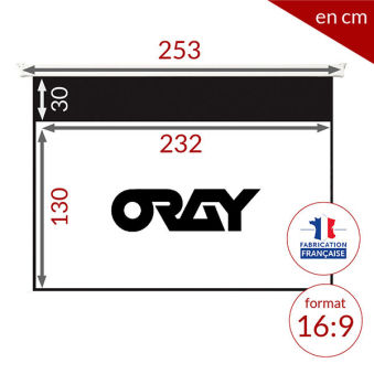ÉCRAN ORAY - ORAY 2000 HC 135X240 + EXTRA-DROP 30CM - MPP02B1135240