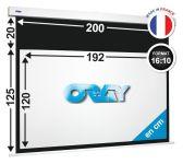 ÉCRAN ORAY - SQUARE HC 125x200 + EXTRA-DROP 20 CM - SQ2B4120192