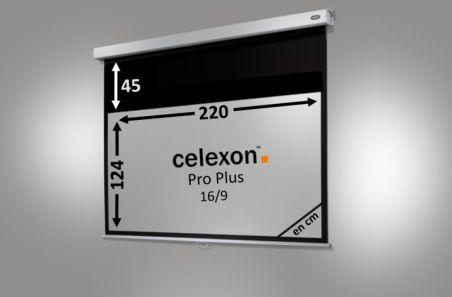 Ecran de projection celexon Manuel PRO PLUS 220 x 124cm