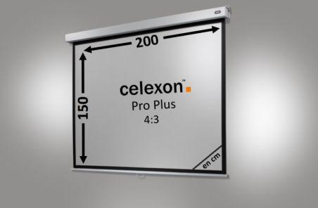 Ecran de projection celexon Manuel PRO PLUS 200 x 150cm