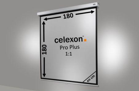 Ecran de projection celexon Manuel PRO PLUS 180 x 180cm