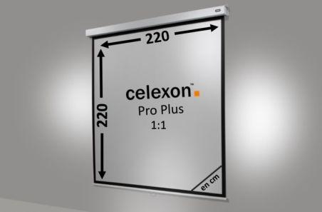 Ecran de projection celexon Manuel PRO PLUS 220 x 220cm