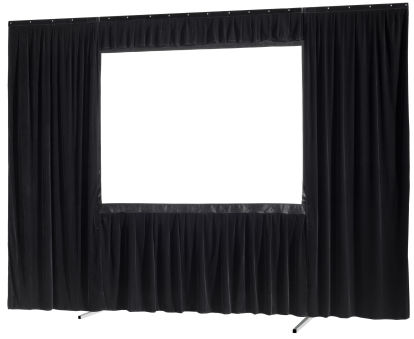 Kit de rideau 4 pièces pour les écrans celexon Mobile Expert 244 x 152 cm