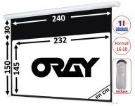 ÉCRAN ORAY - HCM4 150X240 + EXTRA-DROP 20CM - TÉLÉCOMMANDE INCLUSE - HCM4RB1150240