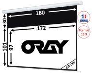 ÉCRAN ORAY - HCM4 101X180 + EXTRA-DROP 30CM - HCM4SB1101180