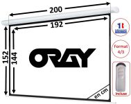 ÉCRAN ORAY - HCM4 150x200 - TÉLÉCOMMANDE INCLUSE - HCM4RB1150200