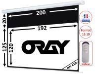 ÉCRAN ORAY - HCM4 125X200 + EXTRA-DROP 20CM - TÉLÉCOMMANDE INCLUSE - HCM4RB1125200