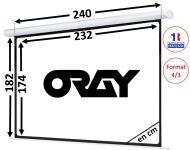 ÉCRAN ORAY - HCM4 180x240 - HCM4SB1180240