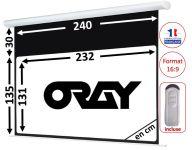 ÉCRAN ORAY - HCM4 135X240 + EXTRA-DROP 30CM - TÉLÉCOMMANDE INCLUSE - HCM4RB1135240
