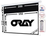 ÉCRAN ORAY - HCM4 112X200 + EXTRA-DROP 30CM - TÉLÉCOMMANDE INCLUSE - HCM4RB1112200