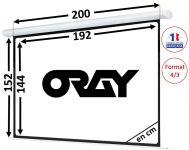 ÉCRAN ORAY - HCM4 150x200 - HCM4SB1150200