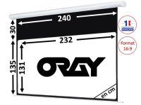 ÉCRAN ORAY - HCM4 135X240 + EXTRA-DROP 30CM - HCM4SB1135240