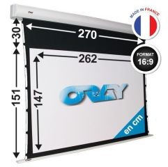 ÉCRAN ORAY - ORION TENSIONNÉ 151X270 + EXTRA-DROP 30CM - OR3B5147262