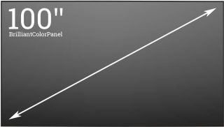 """BrilliantColorPanel 100"""" 16:9"""