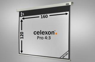 Ecran de projection celexon Motorisé PRO 160 x 120 cm