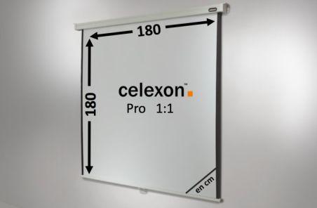 Ecran de projection celexon Manuel PRO 180 x 180 cm
