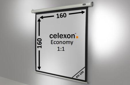 Ecran de projection celexon Economy Motorisé 160 x 160 cm