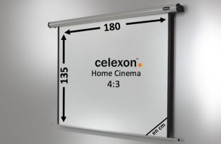 Ecran de projection celexon Motorisé Home Cinema 180 x 135 cm