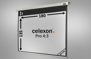 Ecran de projection celexon Motorisé PRO 180 x 135 cm