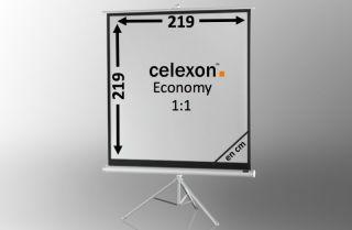 Ecran de projection sur pied celexon Economy 219 x 219 cm - White Edition