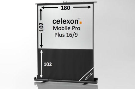 Ecran de projection celexon Mobile PRO PLUS 180 x 102