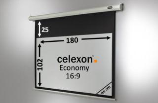 Ecran de projection celexon Economy Motorisé 180 x 102 cm