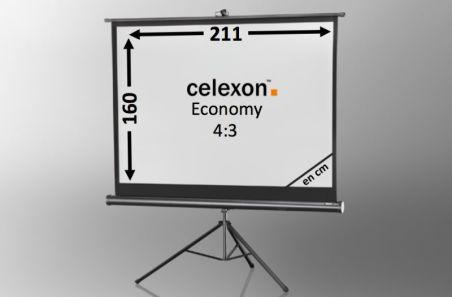 Ecran de projection sur pied celexon Economy 211 x 160 cm