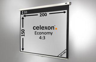 Ecran de projection celexon Manuel  Economy 200 x 150 cm