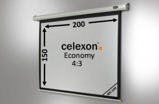 Ecran de projection celexon Economy Motorisé 200 x 150 cm