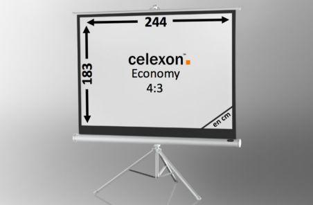 Ecran de projection sur pied celexon Economy 244 x 183 cm- White Edition
