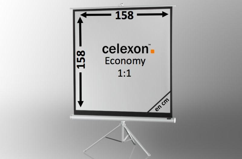 ecran de projection sur pied celexon economy 158 x 158 cm white edition achat vente celexon. Black Bedroom Furniture Sets. Home Design Ideas