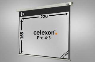 Ecran de projection celexon Motorisé PRO 220 x 165 cm