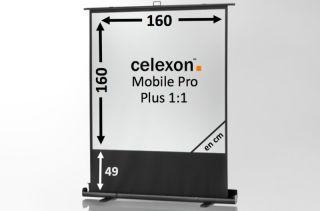 Ecran de projection celexon Mobile PRO PLUS 160 x 160