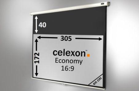 Ecran de projection celexon Manuel Economy 305 x 172 cm