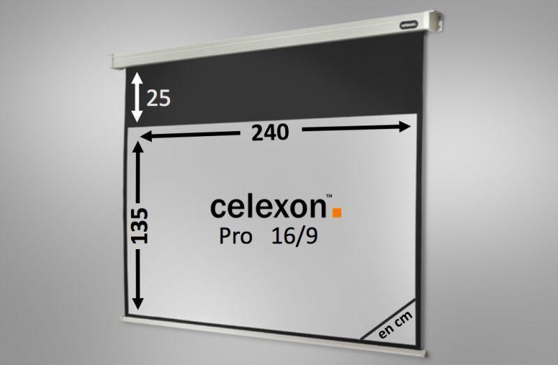 ecran de projection celexon motoris pro 240 x 135 cm. Black Bedroom Furniture Sets. Home Design Ideas