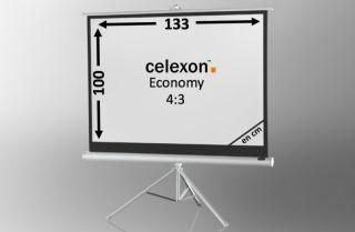 Ecran de projection sur pied celexon Economy 133 x 100 cm - White Edition