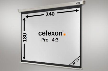 Ecran de projection celexon Manuel PRO 240 x 180 cm