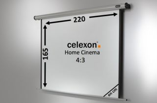 Ecran de projection celexon Motorisé Home Cinema 220 x 165 cm