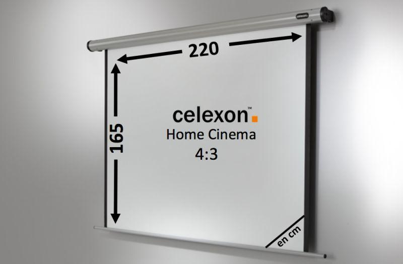 ecran de projection celexon motoris home cinema 220 x 165. Black Bedroom Furniture Sets. Home Design Ideas
