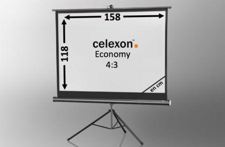 Ecran de projection sur pied celexon Economy 158 x 118 cm