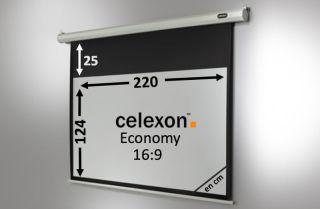 Ecran de projection celexon Economy Motorisé 220 x 124 cm