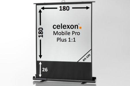 Ecran de projection celexon Mobile PRO PLUS 180 x 180
