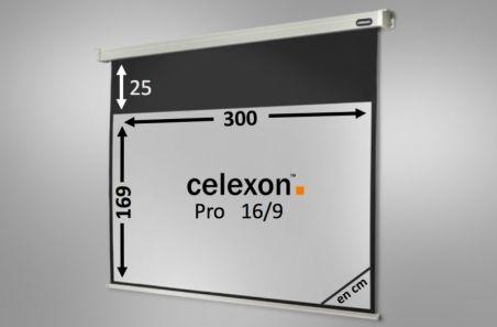 Ecran de projection celexon Motorisé PRO 300 x 169 cm