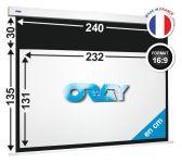 ÉCRAN ORAY - SQUARE HC 135X240 + EXTRA-DROP 30 CM - SQ2B4130232